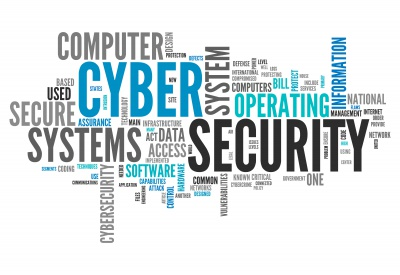 Cyber Security Word Collage